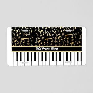 Personalized Piano musical notes designer Aluminum