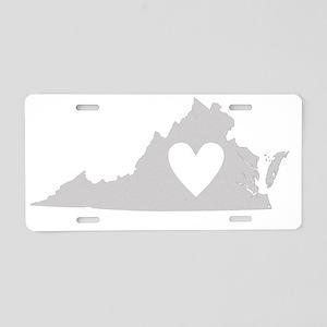 Heart Virginia state silhou Aluminum License Plate