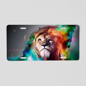 flaming lion Aluminum License Plate