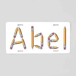 Abel Pencils Aluminum License Plate