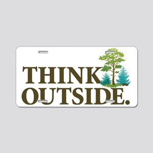 Think Outside Aluminum License Plate