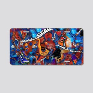 Guitar Jazz Music Magic Aluminum License Plate