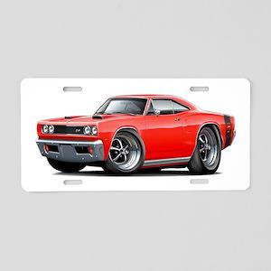 1969 Super Bee Red-Black Car Aluminum License Plat