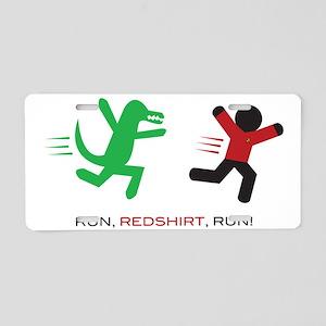 Run, Redshirt, Run! Aluminum License Plate