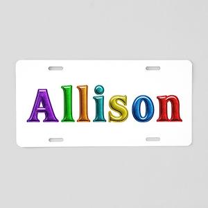 Allison Shiny Colors Aluminum License Plate