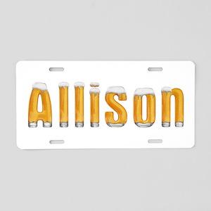 Allison Beer Aluminum License Plate