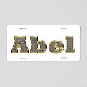 Abel Gold Diamond Bling Aluminum License Plate