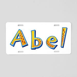 Abel Giraffe Aluminum License Plate
