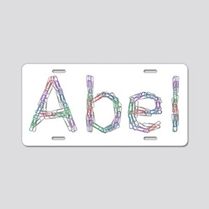 Abel Paper Clips Aluminum License Plate