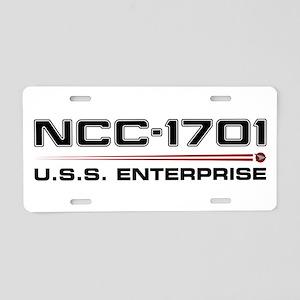 USS Enterprise Refit Dark Aluminum License Plate