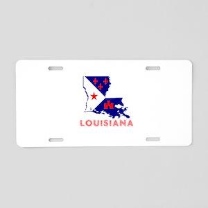 Louisiana Acadiana Red Blue Aluminum License Plate