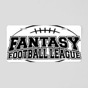 Fantasy Football League Aluminum License Plate