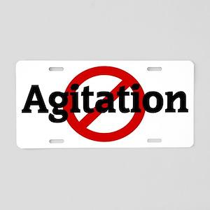 Agitation Aluminum License Plate