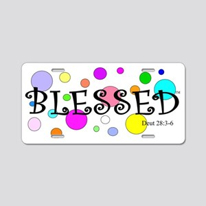 Blessed Aluminum License Plate