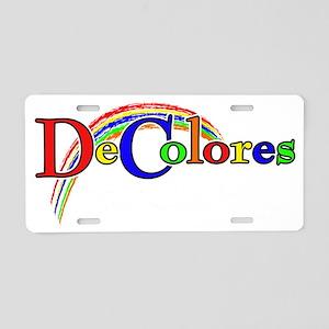 Decolores for Dark Aluminum License Plate