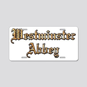 Westminster Abbey Aluminum License Plate