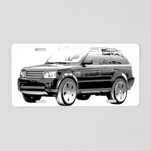 Range Rover Aluminum License Plate