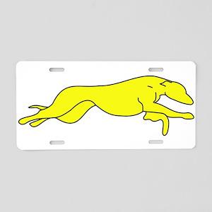 Greyhound Outline multi color Aluminum License Pla
