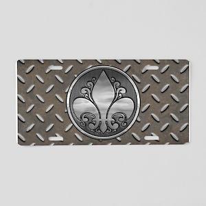 Fleur De Metal Aluminum License Plate