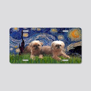 LIC-Starry Night - Two Brus Aluminum License Plate