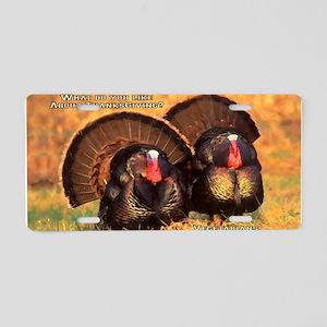 Thanksgiving Turkeys Aluminum License Plate
