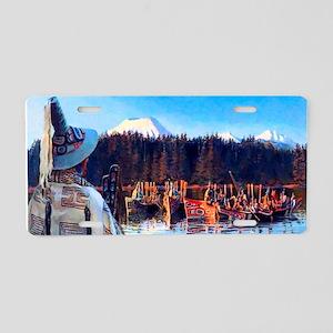 Tlingit Canoes Aluminum License Plate