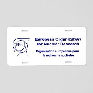 CERN Aluminum License Plate