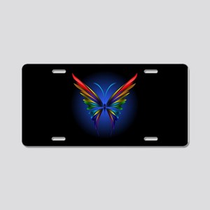 Abstract Butterfly Aluminum License Plate