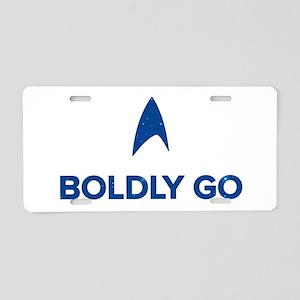 Boldly Go Star Trek Aluminum License Plate