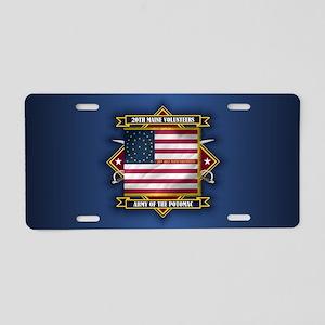 20th Maine (diamond) Aluminum License Plate