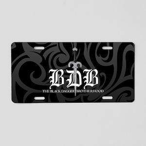 Bdb Dagger Black-And-Gray Aluminum License Plate