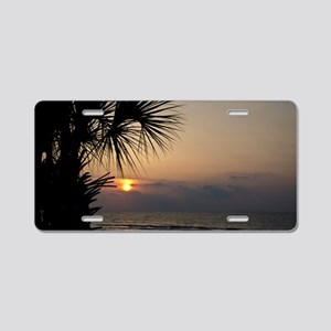 Beach Sunrise Aluminum License Plate