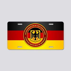 Deutschland Emblem Aluminum License Plate