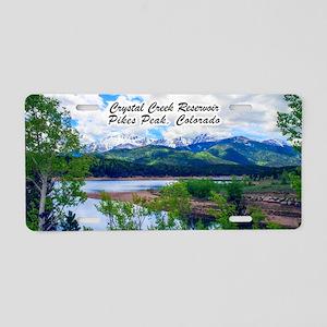 Crystal Creek Reservoir Aluminum License Plate