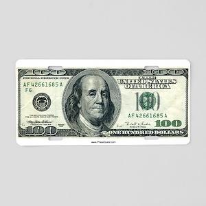 License Plate (Aluminum) One Hundred Dollar Bill