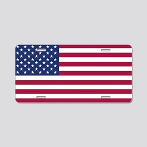 American Flag Aluminum License Plate