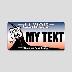 Illinois - Route 66 license plate replica