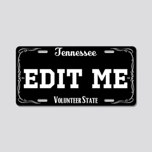 Fictional Tennessee Black and white license plate