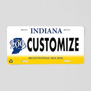 Indiana Custom Aluminum License Plate