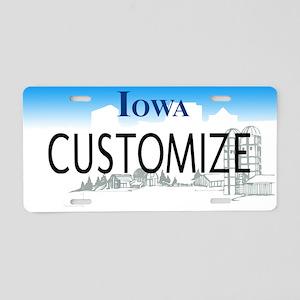 Iowa Custom Aluminum License Plate
