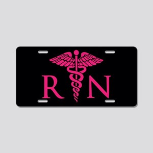 Hot Pink Rn Aluminum License Plate