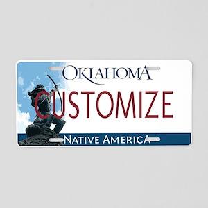 Oklahoma Custom Aluminum License Plate