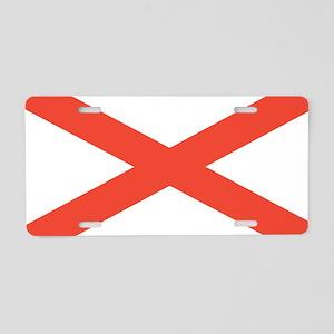 Alabama State Flag Aluminum License Plate