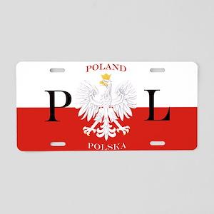 Poland/Polska Aluminum License Plate