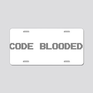 Code Blooded Aluminum License Plate