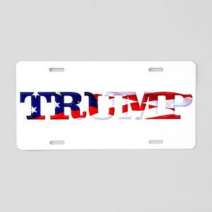 Trump - American Flag Aluminum License Plate