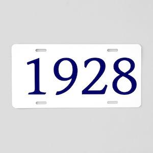 1928 Aluminum License Plate