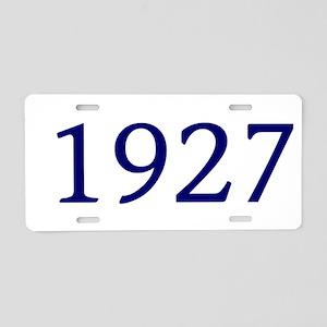 1927 Aluminum License Plate
