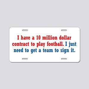 Football Contract Aluminum License Plate