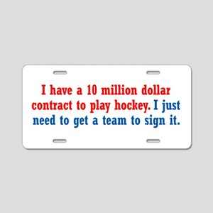 Hockey Contract Aluminum License Plate